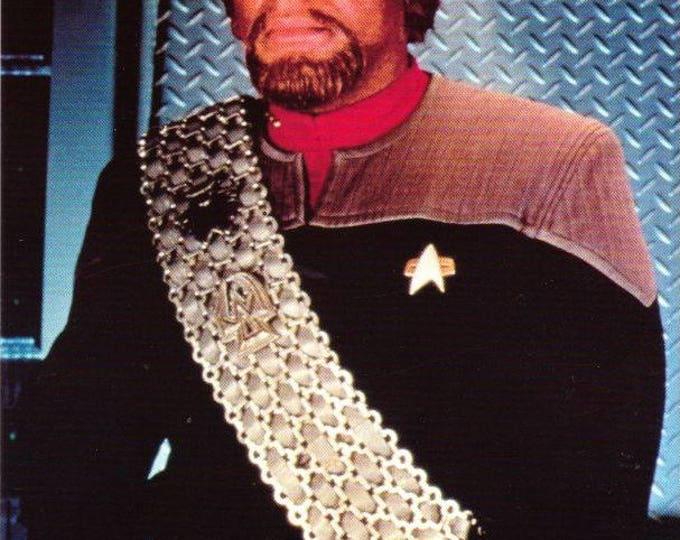 Vintage Postcard, Star Trek, Lieutenant Commander Worf, Deep Space Nine, 1998, Classico, Paramount Pictures