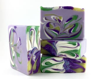 beguile ~ calabrian bergamot + violet - Handcrafted Vegan Soap, EvieSoap, Shea Butter Soap, Palm Free Soap, evie soap, cold process