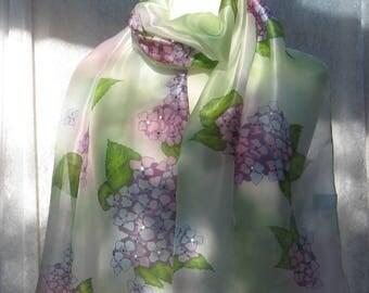 From Exbury Gardens - hand painted silk scarf
