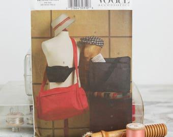 Mens Accessories, Bucket Hat, Newsboy Cap, Messenger bag, Fanny Pack, Vogue 8053, Vintage 1990s Sewing Pattern