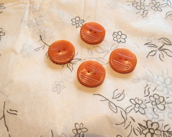 set of four butterscotch vintage bakelite buttons