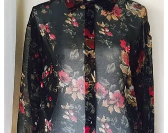 70's or 80's Avon Fashions button-up shirt size M/L (Womens)