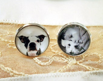 Gift for DAD Father's Day Gift Dog Custom Cuff links Father of the Bride Gift Father of the Groom Gift Personalized Cufflinks for Wedding