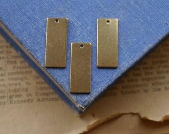 5pcs Gold Dangle Rectangle Stamping Bar Pendant Charms 40mm (GC3014)