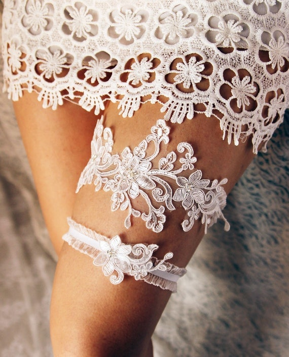 Lace Wedding Garters: Wedding Garter Lace Garter Set Bridal Garter Belt Rustic