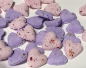Rose and Lavender Sugar Cube Hearts for Tea Party's | Weddings | Baby Showers and Party's