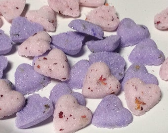 Colored Sugar Cube Hearts (48) for Tea. Coffee. Weddings. Baby Showers and Party's