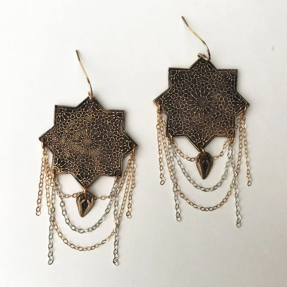 Moravian Star earrings