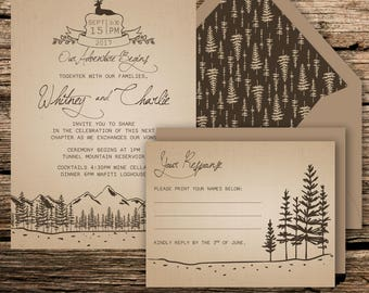 Wedding Invitation & RSVP Card {Adventure}