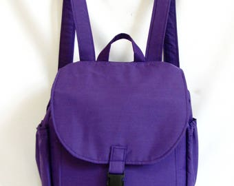 Small backpack- Purple cotton