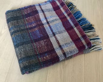 Handwoven Plaid Wool Blanket No. 5.5