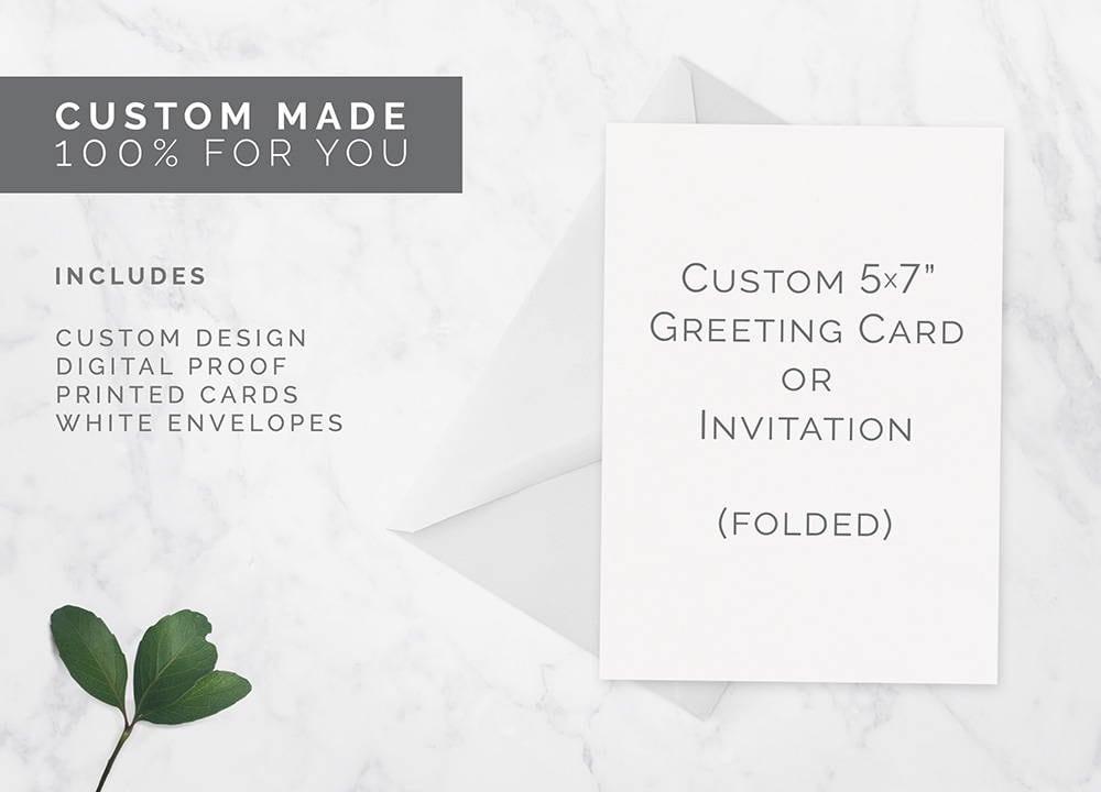 Custom folded card custom invitations printed cards party invites custom folded card custom invitations printed cards party invites wedding invitations m4hsunfo