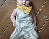 Bandana Bib and Pacifier Set in Mustard Blooms. Yellow Floral Baby Gift. Baby Bandana Bib. Baby Girl Bandana Bib. Baby Girl Bib. Floral Bib.