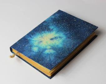Cosmos, galaxy, nebula handmade journal, notebook, stars, sky, old pages