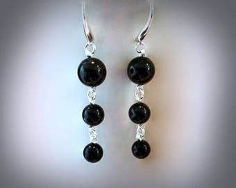 Swarovski Dangle Earrings Your Choice! You Choose: Black Pearl Earrings or White Pearl Earrings Swarovski Earrings Swarovski Crystal Pearl