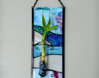 Stained Glass Bamboo Holder