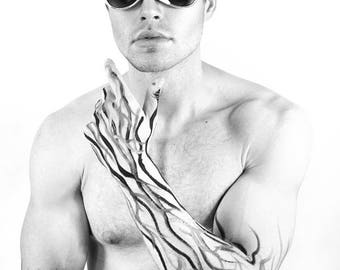 Zocculus Shades Mens Womens Sunglasses angular wing avant garde futuristic festival glasses accessory burning man festival