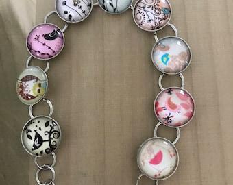 Owl bracelet, adjustable bracelet, owl accessories, bird jewelry, owl fanatic, Gifts for women, Gifts for girl, Stocking stuffer