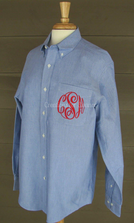 women u0026 39 s monogrammed oxford button down shirt  bridesmaids shirts  oversized oxford shirt