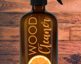 16 oz. Wood Cleaner Bottle Label / Essential Oil Label / Make & Take Labels / Stickers / Waterproof Decal