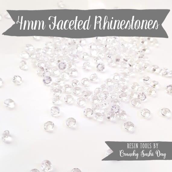 200 PCS- 4mm Clear Acrylic Diamond Rhinestones, Rhinestone, Acrylic Rhinestones, Loose Rhinestones, Diamond Confetti, Confetti
