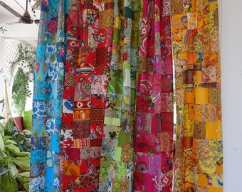 Patchwork Curtains Etsy