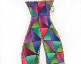 """Ethnic, African American, Fabric Greeting Cards, Any occasion, blank """"DIVA"""" cards -  by PaintedThreads"""