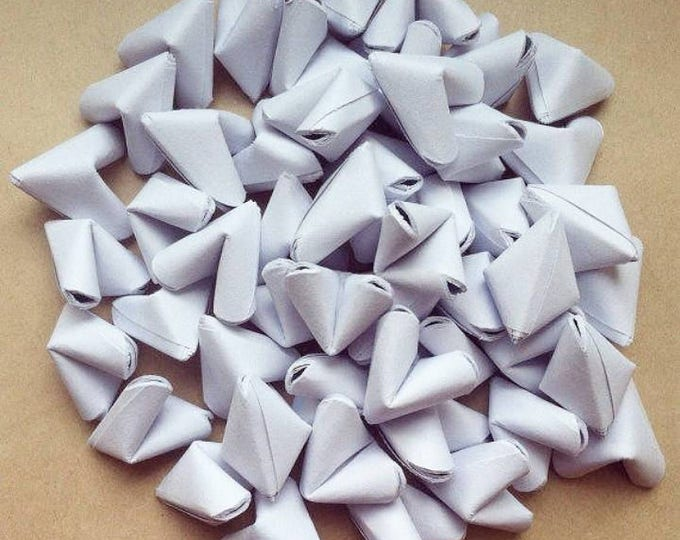 100 paper origami hearts without quotes - Spring - wedding decor - free delivery