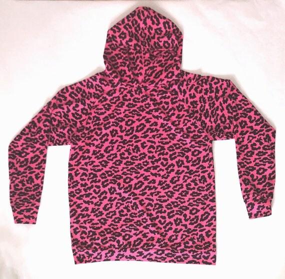 Pink Leopard/Cheetah Print Hoodie Jersey Sweatshirt