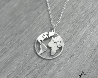 World map necklace etsy world map necklace globe necklace earth necklace globetrotter necklace world map pendant gumiabroncs Image collections