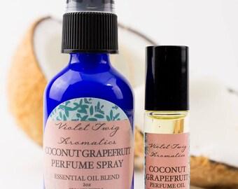 Coconut Grapefruit - Natural Perfume - Perfume Spray - Coconut Fragrance - Coconut Perfume - Tropical Perfume - Grapefruit Perfume