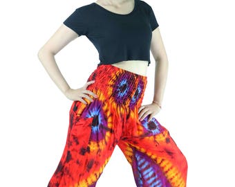 Harem Pants Unisex Women Trouser Pants Tie dye Pants Yoga Pant Aladdin Pants Maxi Pants Boho Pants Gypsy Pants Rayon Pants Clothing Trouser