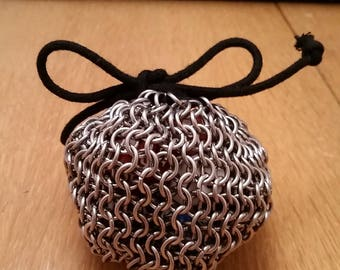 Chainmaille Dice Pouch