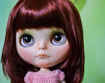 OOAK Custom Factory Blythe Doll - With Mid Length Red-Brown Hair - Elodie