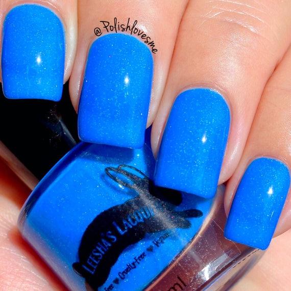 Neon Blue Nail Polish: Neon Blue Indie Nail Polish Purse First 5-Free Cruelty
