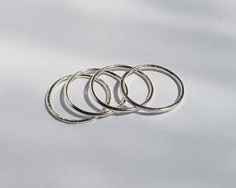 Stacking Rings Silver, Knuckle Rings, Skinny Rings, Sterling Silver Stacking Rings, Boho Jewelry, Beach Ready, Summer, Silver Rings.
