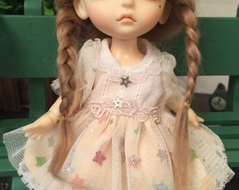 bjd doll long briad wig for lati yellow pukifee doll 16cm 1/8 bjd doll(1 color)