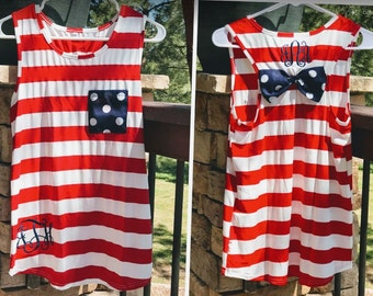 4th of July Shirt, Patriotic Tank, Red White and Blue, Forth of July Tank Top, Monogrammed Shirt, Tank Top, Patriotic T Shirts, USA Tank