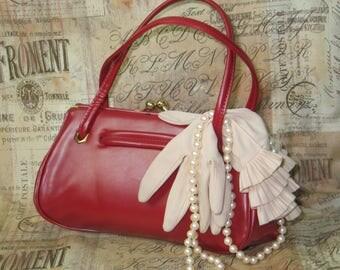 Antique Purse Handbag / Vintage Purse / 1950s / 1960s  Mid Century