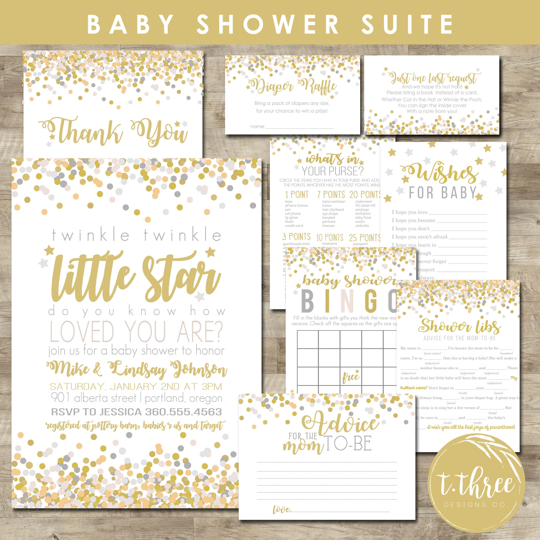 Twinkle Twinkle Little Star Baby Shower Package, baby shower ...