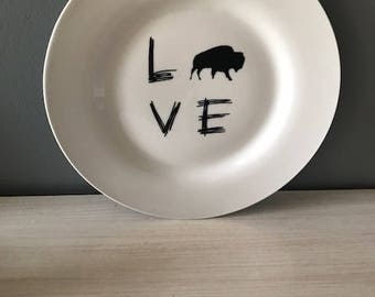 Buffalo LOVE Dinner Plate