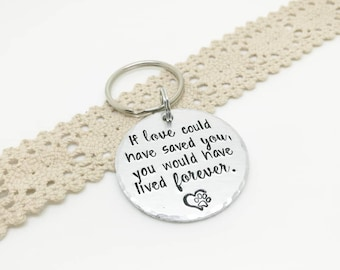 If Love Could Have Saved You, You Would Have Lived Forever, Pet bereavement, Pet loss keyring, Loss of pet, Pet remembrance keychain,
