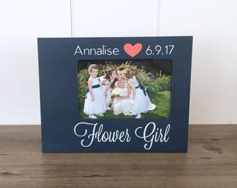 Personalized Flower Girl Picture Frame, Flower Girl Gift, Flower Girl Present, Bridal Party Gift Idea, Gift for Flower Girl, Will You Be My