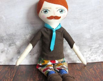 "Crescent Moon Boy Doll, ""Bob"""