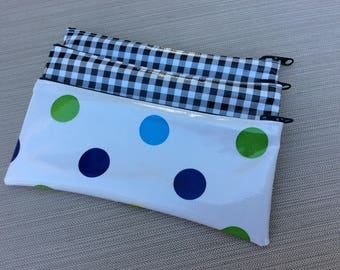 Oilcloth Pouch Pencil / Cosmetic