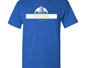 Boise City Flag T Shirt - Royal