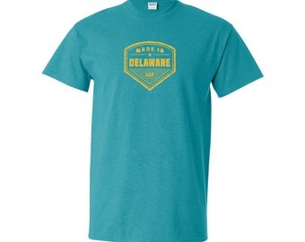 Made in Delaware T Shirt - Antique Jade Dome