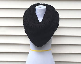THE ORION COWL•• Large chunky cowl, black cowl, black chunky cowl, oversized cowl