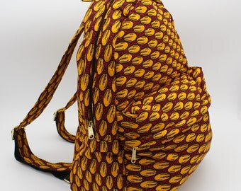 African Print Backpack (Tisi) by Daffina