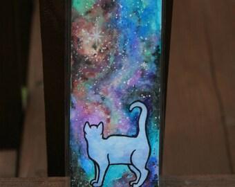 Curious Galaxy Cat Bookmark